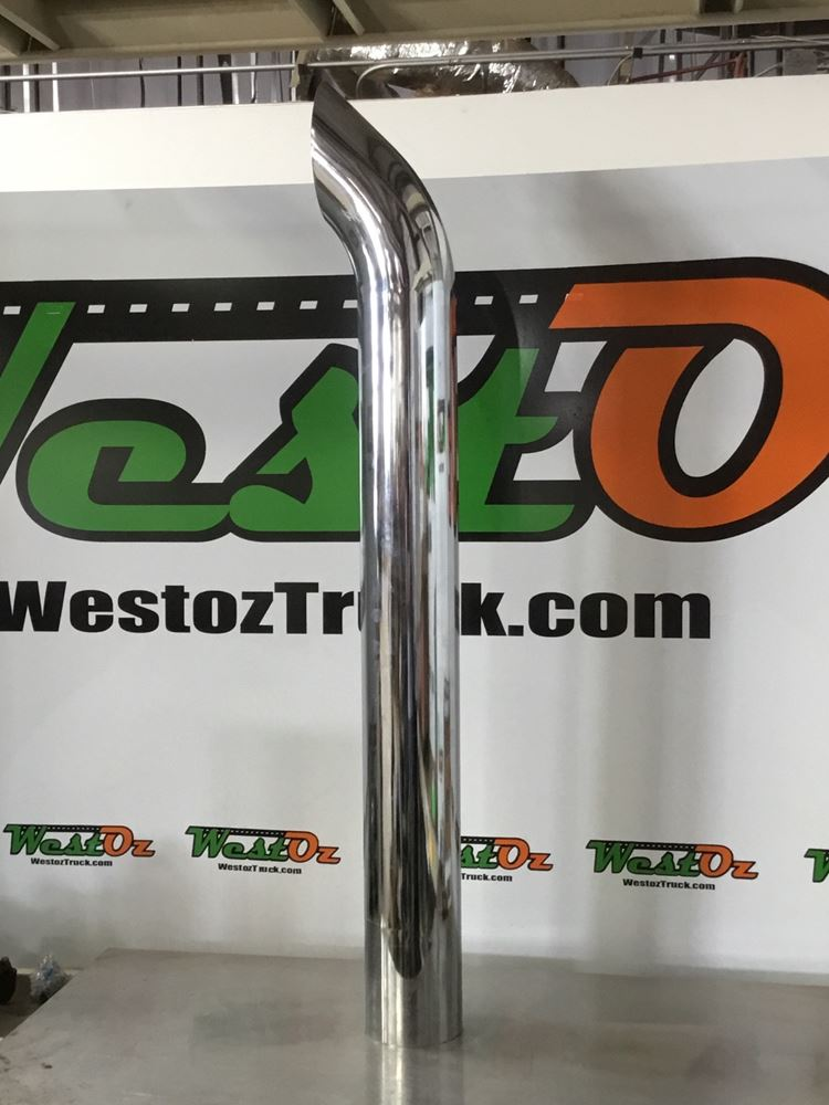 "5""x48"" Curved Chrome Exhaust Tip Stack"