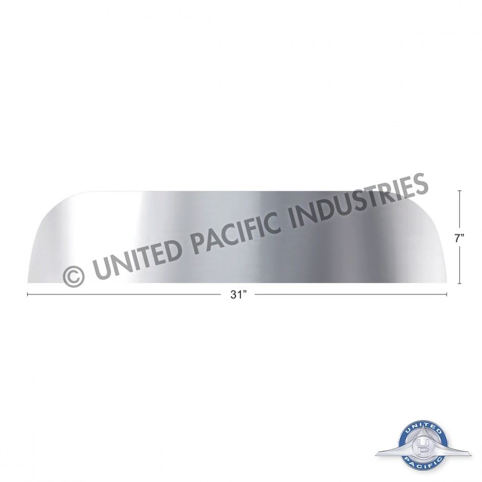 "Stainless Peterbilt 7"" Chopped Window Trim"